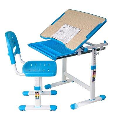 Комплект парта и стул-трансформеры FunDesk Piccolino Blue производства Fundesk - главное фото