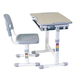 Комплект парта и стул-трансформеры FunDesk Piccolino Grey