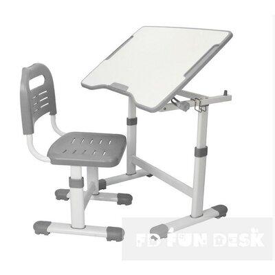 Комплект парта и стул-трансформеры FunDesk Sole II Grey производства Fundesk - главное фото