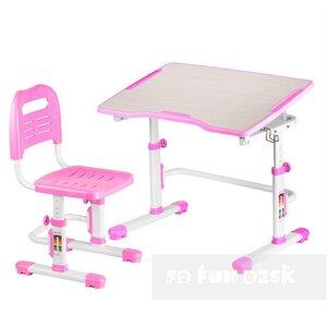 Комплект парта + стул трансформеры Vivo II Pink FUNDESK