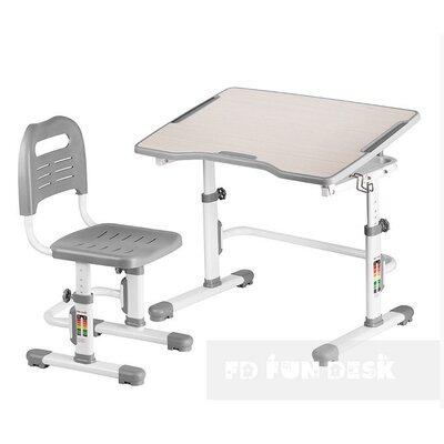 Комплект парта + стул трансформеры Vivo II Grey FUNDESK производства Fundesk - главное фото