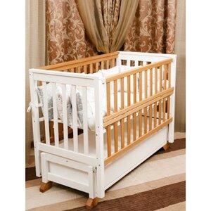 Детская кроватка Alex (с откидной боковиной) 60*120 см, белая,слоновая кость