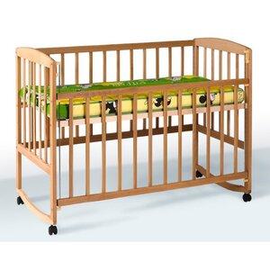 Детская кроватка Ameli (с подвижной боковиной,дугами,колеса) 60*120см, цвет бук