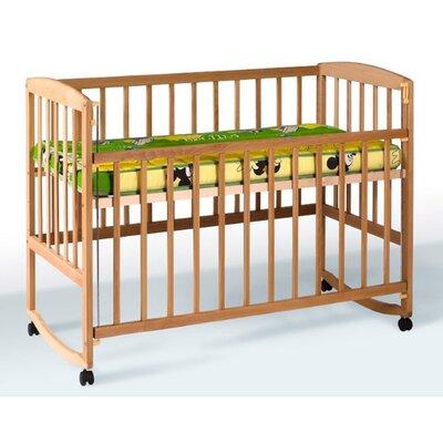 Детская кроватка Ameli (с подвижной боковиной,дугами,колеса) 60*120см, цвет бук производства Гойдалка - главное фото