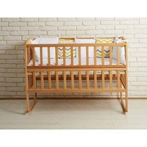 Детская кроватка Ameli (с откидным боковинами,дугами,колеса) 60*120см, цвет бук