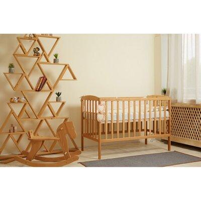 Детская кроватка Anet (3 высоты) 60*120см, цвет бук производства Гойдалка - главное фото