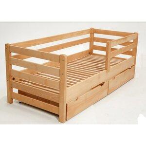 Подростковая кроватка Aurora с ящиками 80*160 см цвет бук