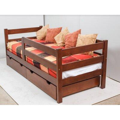 Подростковая кроватка Montana с ящиками 80*160 см цвет бук производства Гойдалка - главное фото