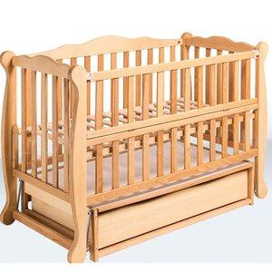 Детская кроватка Natali на подшипниках (с откидной боковиной,ящик) 60*120 см, цвет бук