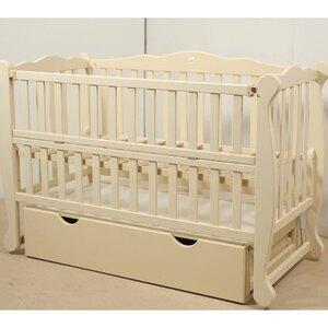 Детская кроватка Natali на подшипниках (с откидной боковиной,ящик) 60*120 см, цвет крашеная