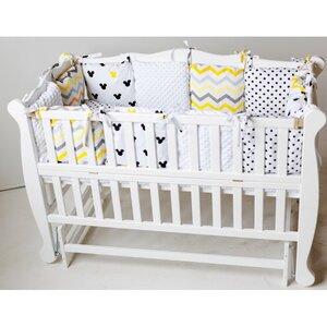 Детская кроватка Natali на подшипниках (с откидной боковиной) 60*120 см, цвет крашеная