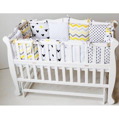 Детская кроватка Natali на подшипниках (с откидной боковиной) 60*120 см, цвет крашеная производства Гойдалка - главное фото