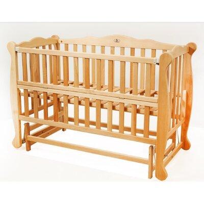 Детская кроватка Natali на подшипниках (с откидной боковиной) 60*120 см, цвет бук производства Гойдалка - главное фото