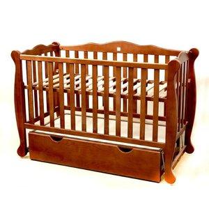 Детская кроватка Natali на подшипниках с ящиком (3 высоты) 60*120 см, цвет крашеная