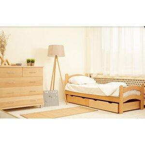 Подростковая кроватка Paris с ящиком 80*190 см цвет бук