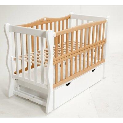 Детская кроватка Sofi (с откидной боковиной,ящик) 60*120 см, крашеная производства Гойдалка - главное фото