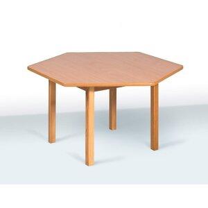 Детский стол шестиместный цвет бук