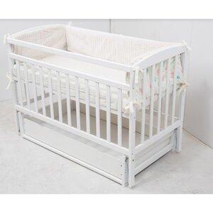 Детская кроватка Valeri на подшипниках (с ящиком) 60*120 см, цвет крашеная