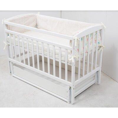 Детская кроватка Valeri на подшипниках (с ящиком) 60*120 см, цвет крашеная производства Гойдалка - главное фото