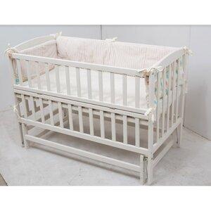 Детская кроватка Valeri на подшипниках (с откидной боковиной) 60*120 см, цвет крашеная
