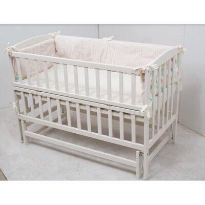 Детская кроватка Valeri на подшипниках (с откидной боковиной) 60*120 см, цвет крашеная производства Гойдалка - главное фото