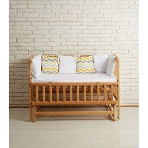 Детская кроватка Valeri на подшипниках (с откидной боковиной) 60*120 см, цвет бук
