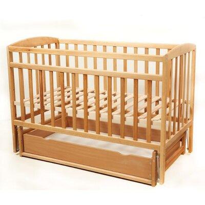 Детская кроватка Valeri на подшипниках (с ящиком) 60*120 см, цвет бук производства Гойдалка - главное фото