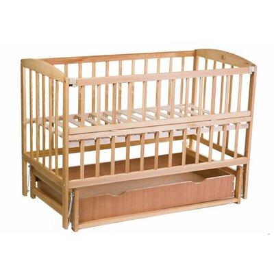 Детская кроватка Valeri на подшипниках (с откидной боковиной,ящик) 60*120 см, цвет бук производства Гойдалка - главное фото