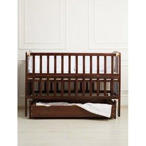 Детская кроватка Valeri на подшипниках (с откидной боковиной,ящик) 60*120 см, цвет крашеная