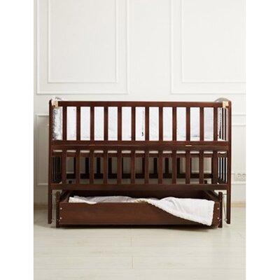 Детская кроватка Valeri на подшипниках (с откидной боковиной,ящик) 60*120 см, цвет крашеная производства Гойдалка - главное фото