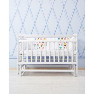 Детская кроватка Valeri на подшипниках (3 высоты) 60*120 см, цвет крашенная производства Гойдалка - главное фото