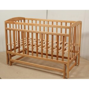 Детская кроватка Valeri на подшипниках (3 высоты) 60*120 см, цвет бук