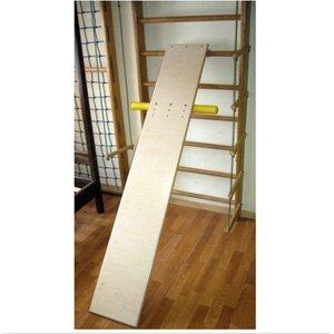 Доска для пресса и спины 190 см с упорами для ног