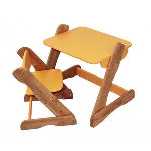 Детский комплект растущий столик и стул,оранжевый