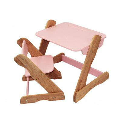 Детский комплект растущий столик и стул,розовый