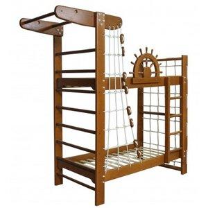 Двухъярусная кровать-спортивный уголок Пират тон