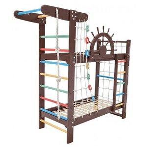 Двухъярусная кровать-спортивный уголок Забавный Пират