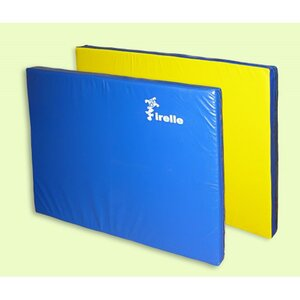 Мат гимнастический Ирель 100х100х8см желто-синий