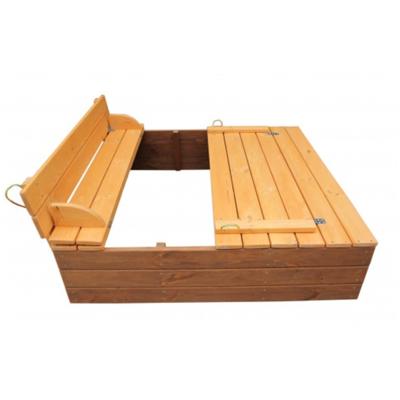 Песочница с крышкой деревянная в тонировке производства Irelle - главное фото