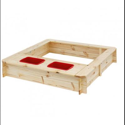 Песочница деревянная с контейнерами для воды производства Irelle - главное фото