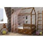 Деревянная кровать домик Маленький дом