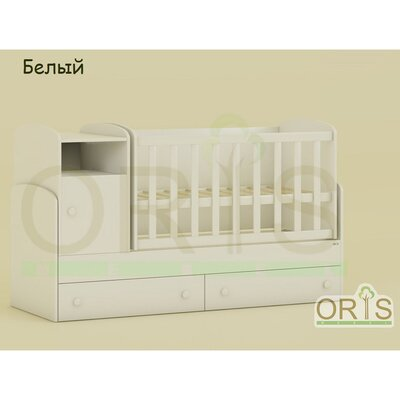 Кроватка – трансформер ORIS Marica белый