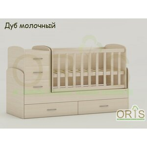 Кровать-трансформер Oris Maya дуб молочный