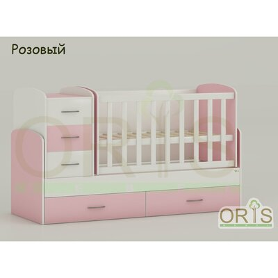 Кровать-трансформер Oris Maya розовый производства ORIS - главное фото