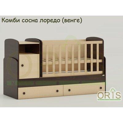 Кроватка – трансформер ORIS Marica комби сосна лоредо (венге)