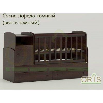 Кроватка – трансформер ORIS Marica сосна лоредо темный (венге темный)