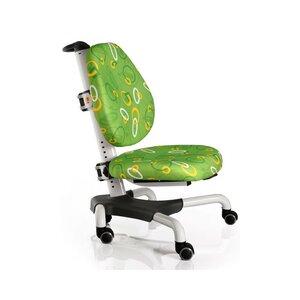 Детское кресло Mealux Nobel Y-517 WZ белый металл / обивка зеленая с кольцами
