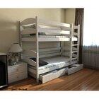 Двухъярусная кровать Лакки из бука (массив) 80*190