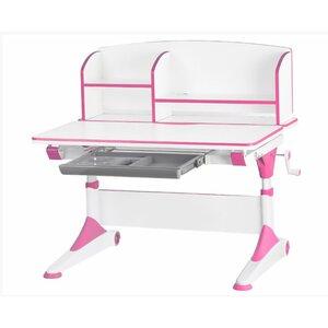 Детский стол Evo-Kids Alberto (с полкой) розовый