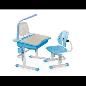 Комплект парта и стульчик Evo-kids Evo-03 BL с лампой